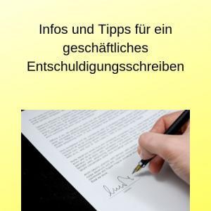 Infos und Tipps für ein geschäftliches Entschuldigungsschreiben